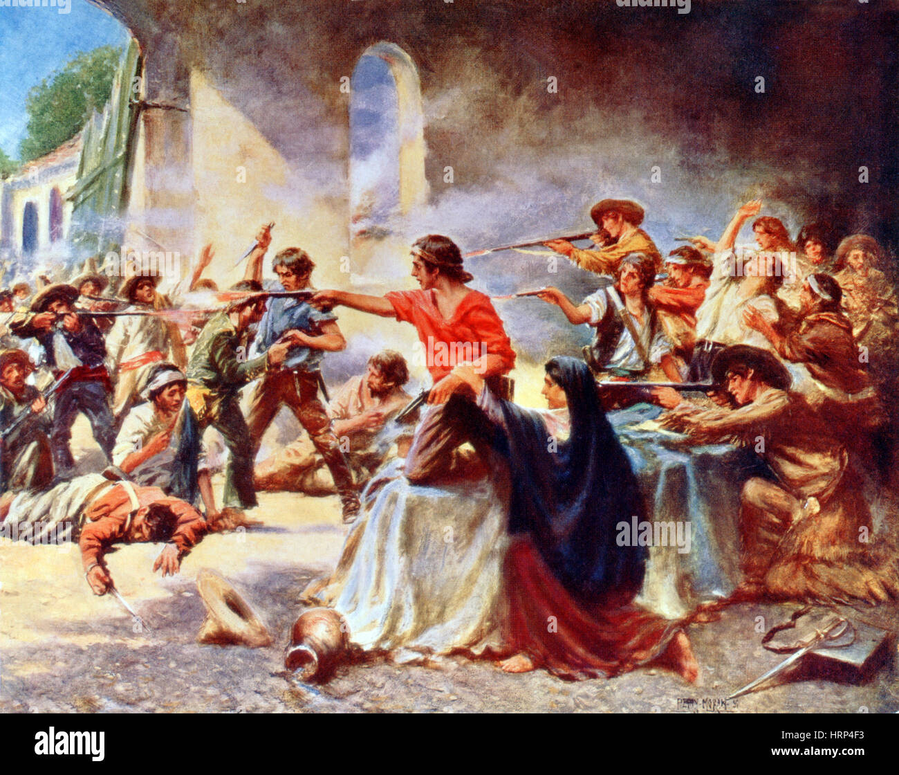 Battle of the Alamo, 1836 - Stock Image