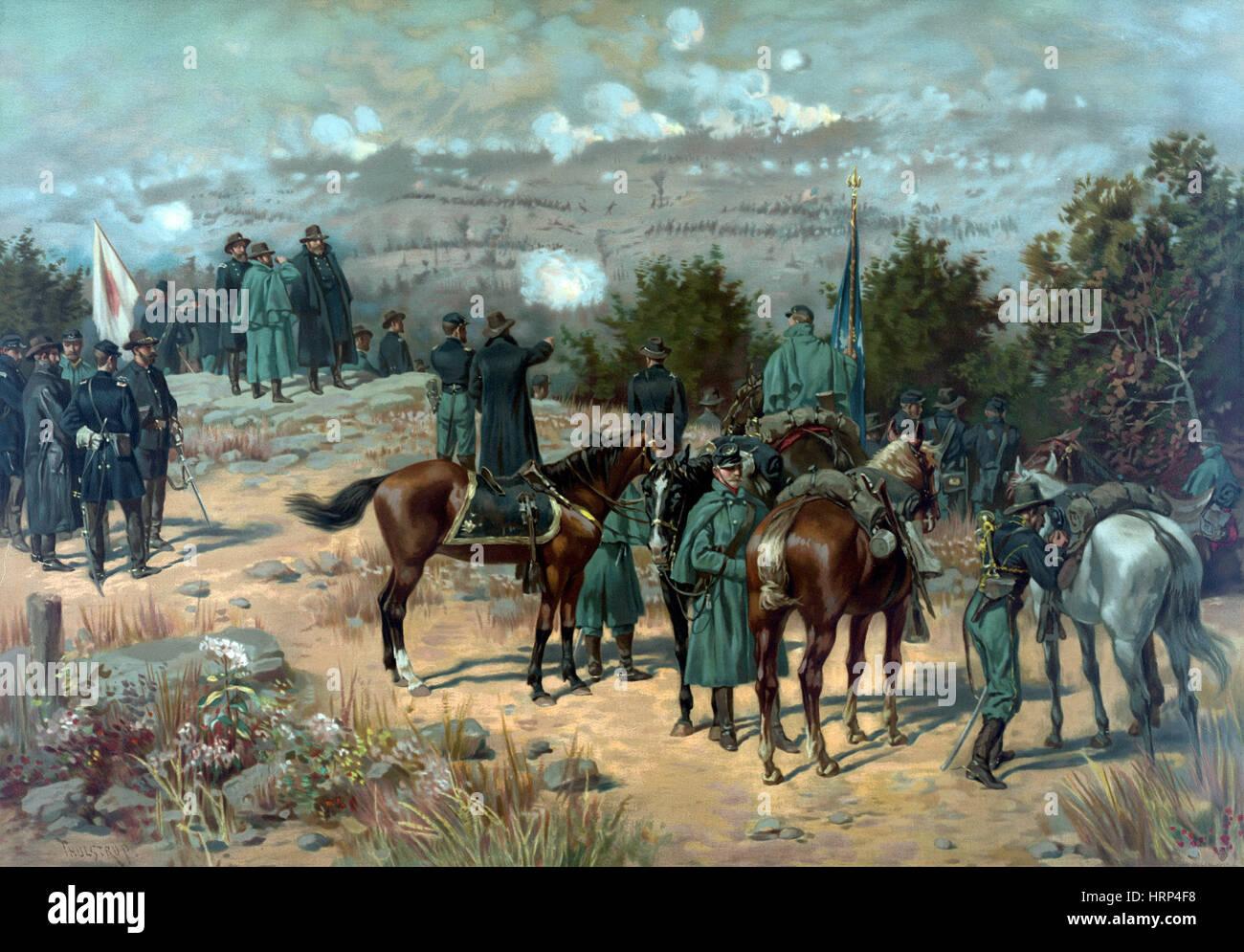 American Civil War, Chattanooga Campaign, 1863 - Stock Image
