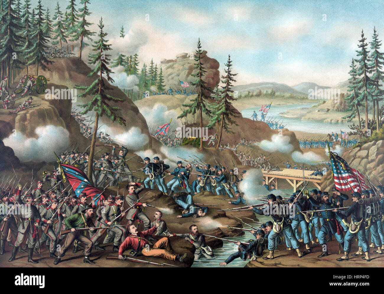 Chattanooga Campaign, Orchard Knob, 1863 - Stock Image