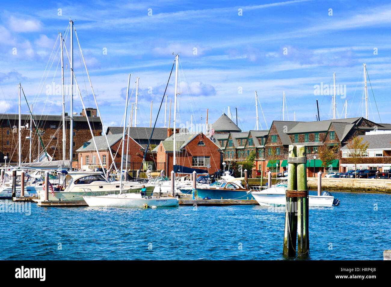 Sailboats of Newport - Stock Image