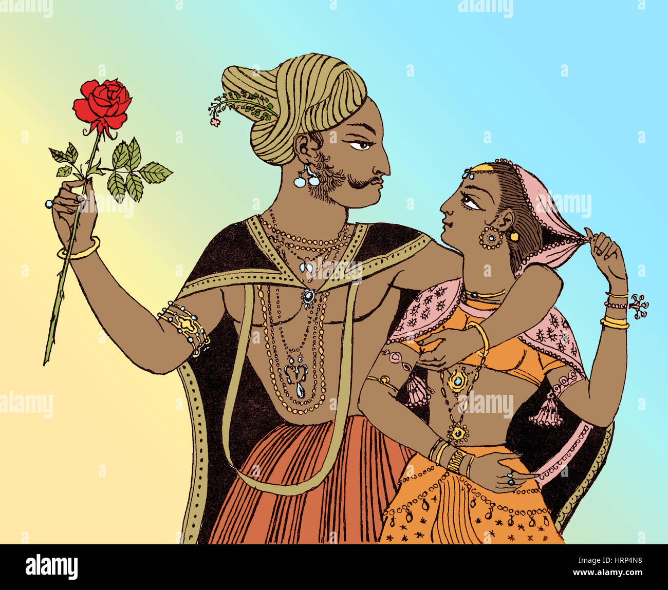 Discovery of Rose Oil, 1582 - Stock Image