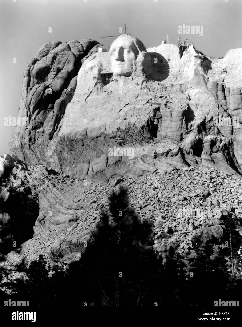 First Attempt of Jefferson Head, 1930s - Stock Image