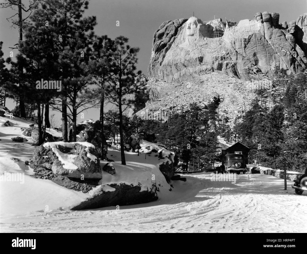 Carving Mount Rushmore, 1930s - Stock Image