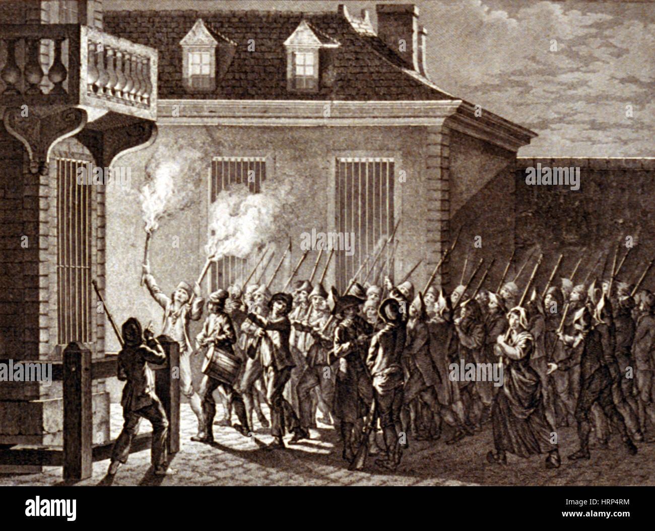 Citizens Patrol in Paris, 1789 - Stock Image