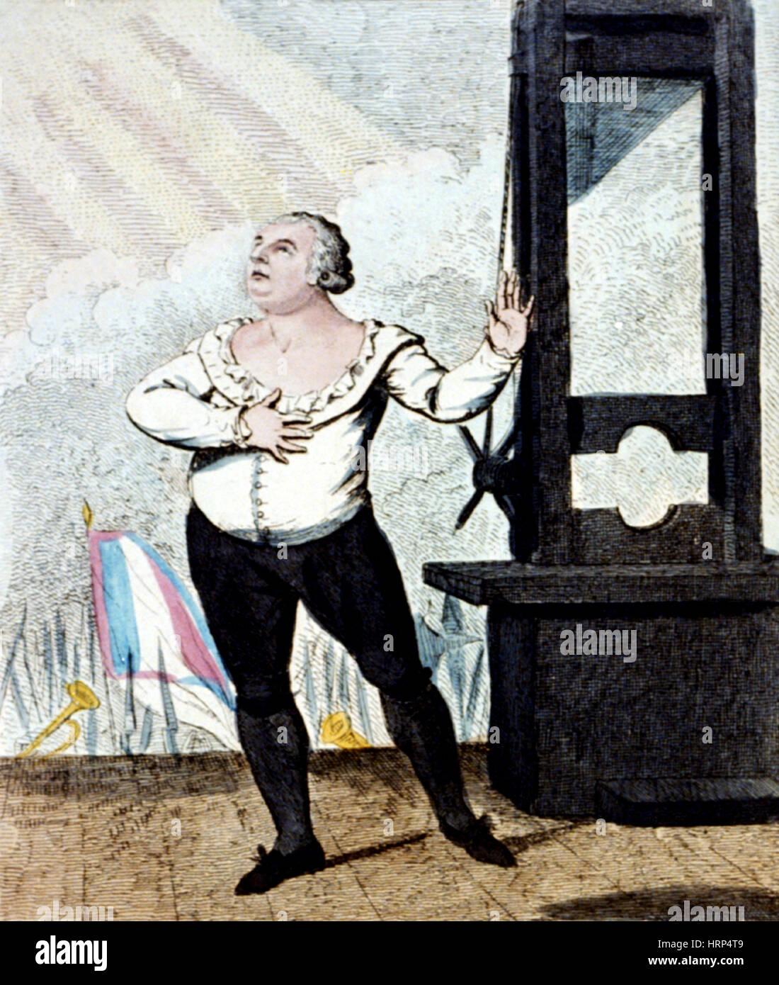 French Revolution, Execution of Louis XVI, 1793 - Stock Image