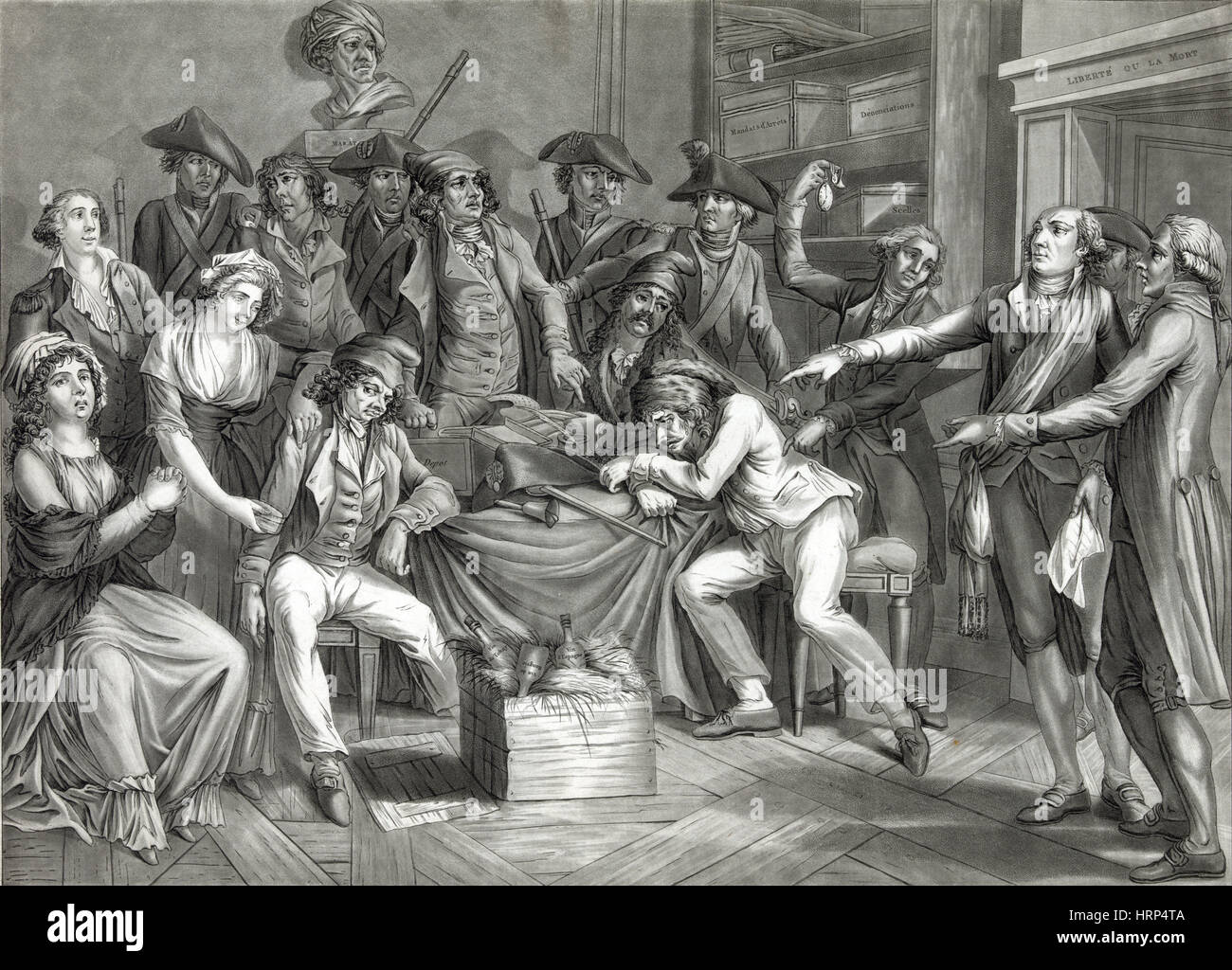 French Revolution, Reign of Terror Stock Photo: 135096426 ...