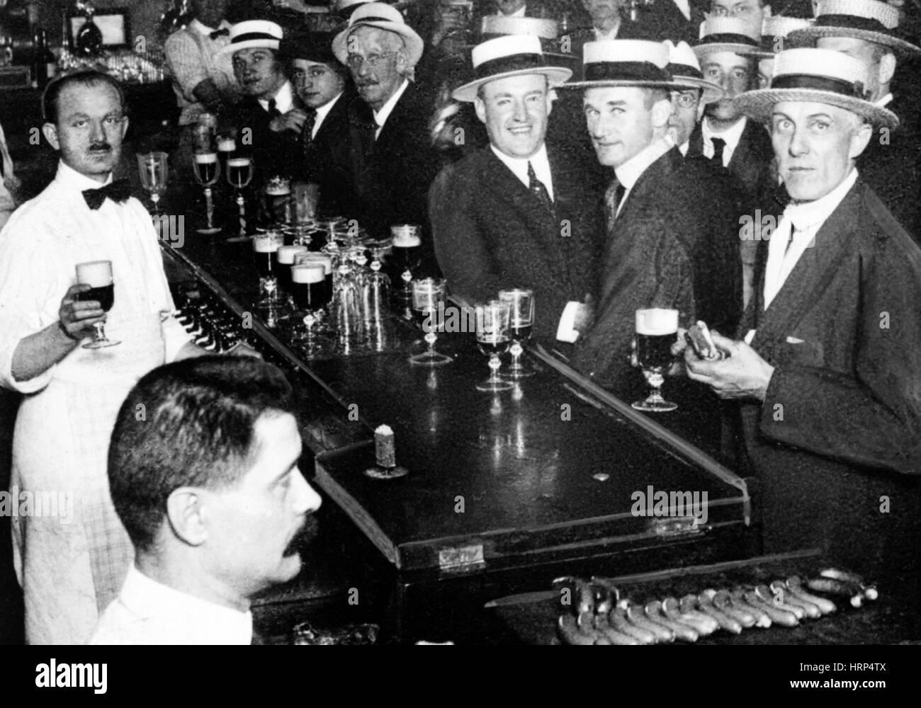 Prohibition Countdown, 1919 - Stock Image
