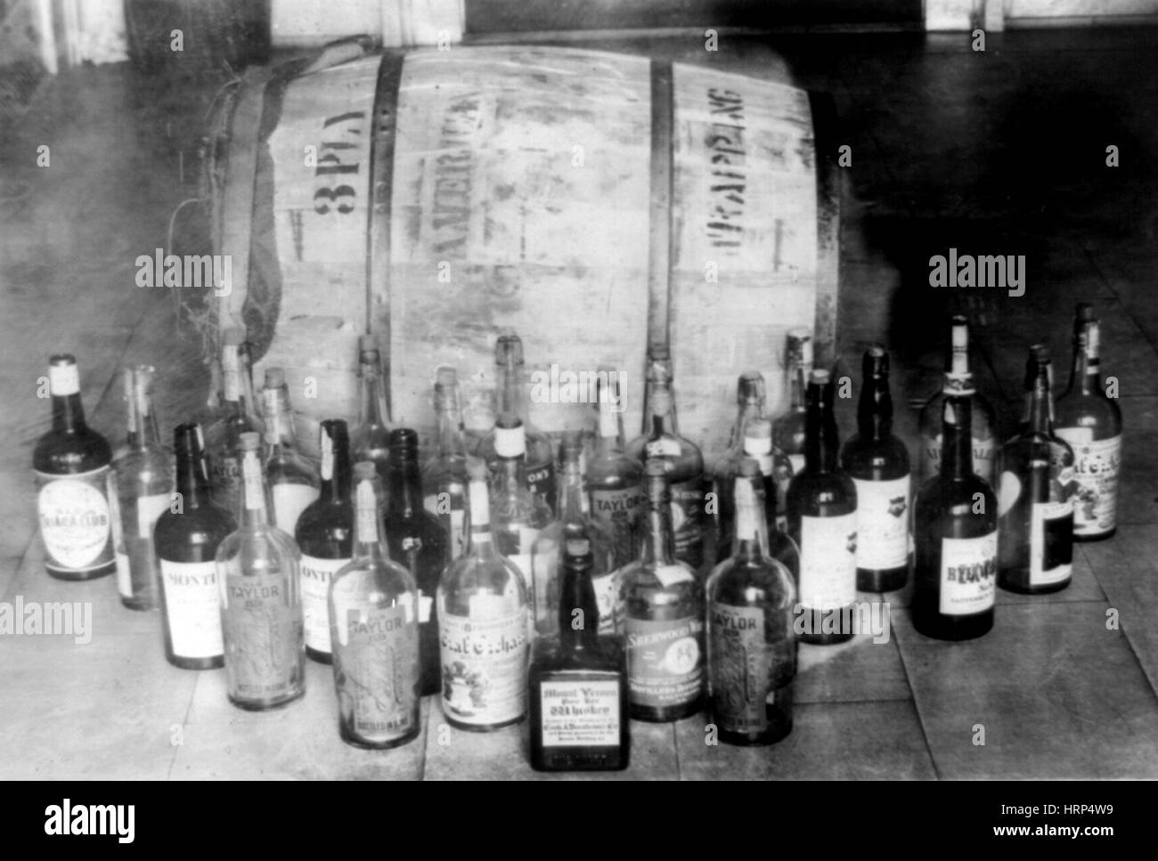 Confiscated Whiskey, 1920s - Stock Image