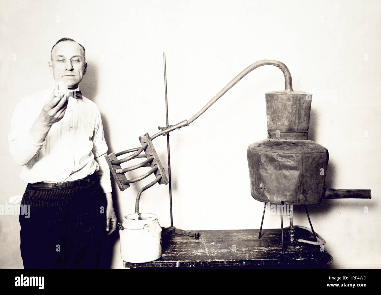 Confiscated Moonshine Still, 1920s Stock Photo