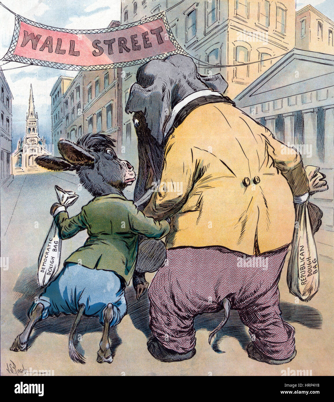 Campaign Financing, 1908 - Stock Image
