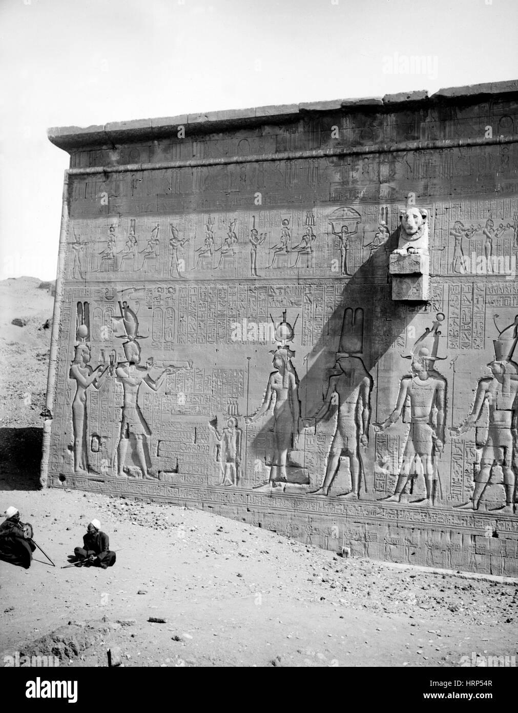 Temple of Hathor, Early 20th Century - Stock Image