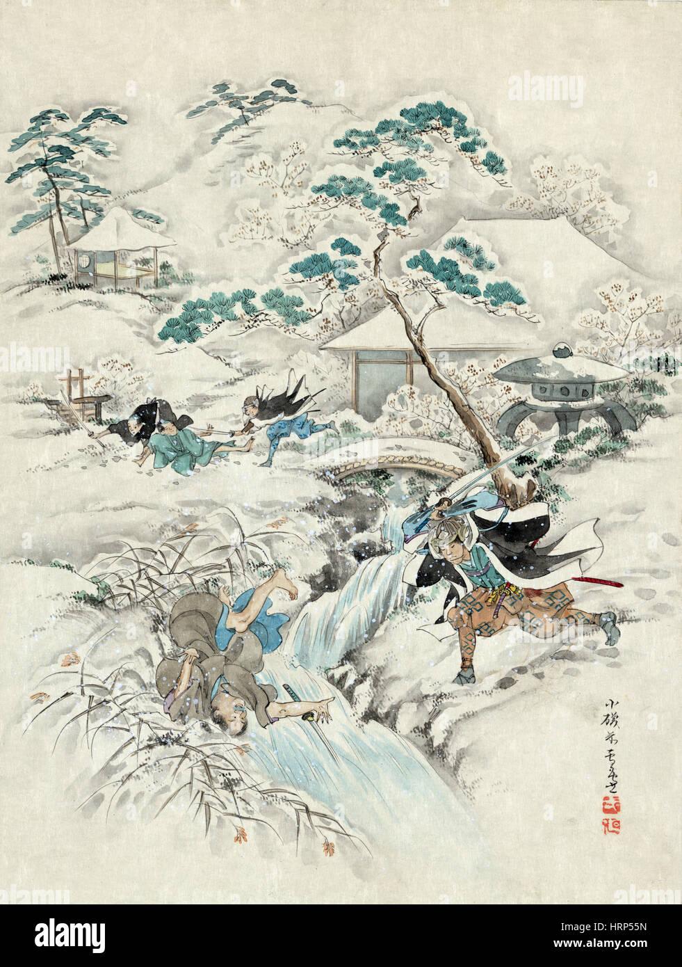 Chushingura, Revenge of the 47 Ronin, 18th Century - Stock Image