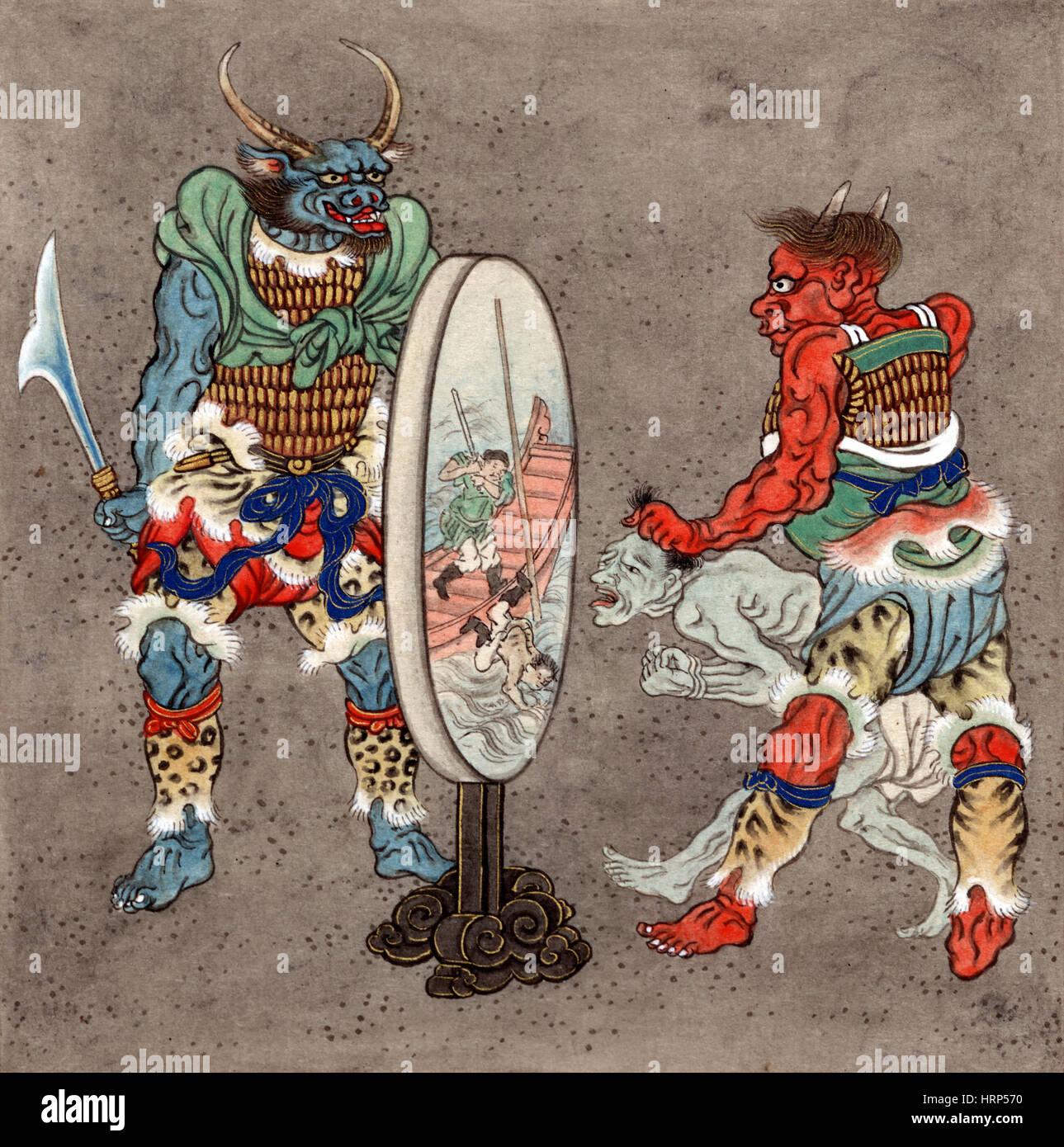 Wrathful Deities, Buddhist Mythology - Stock Image