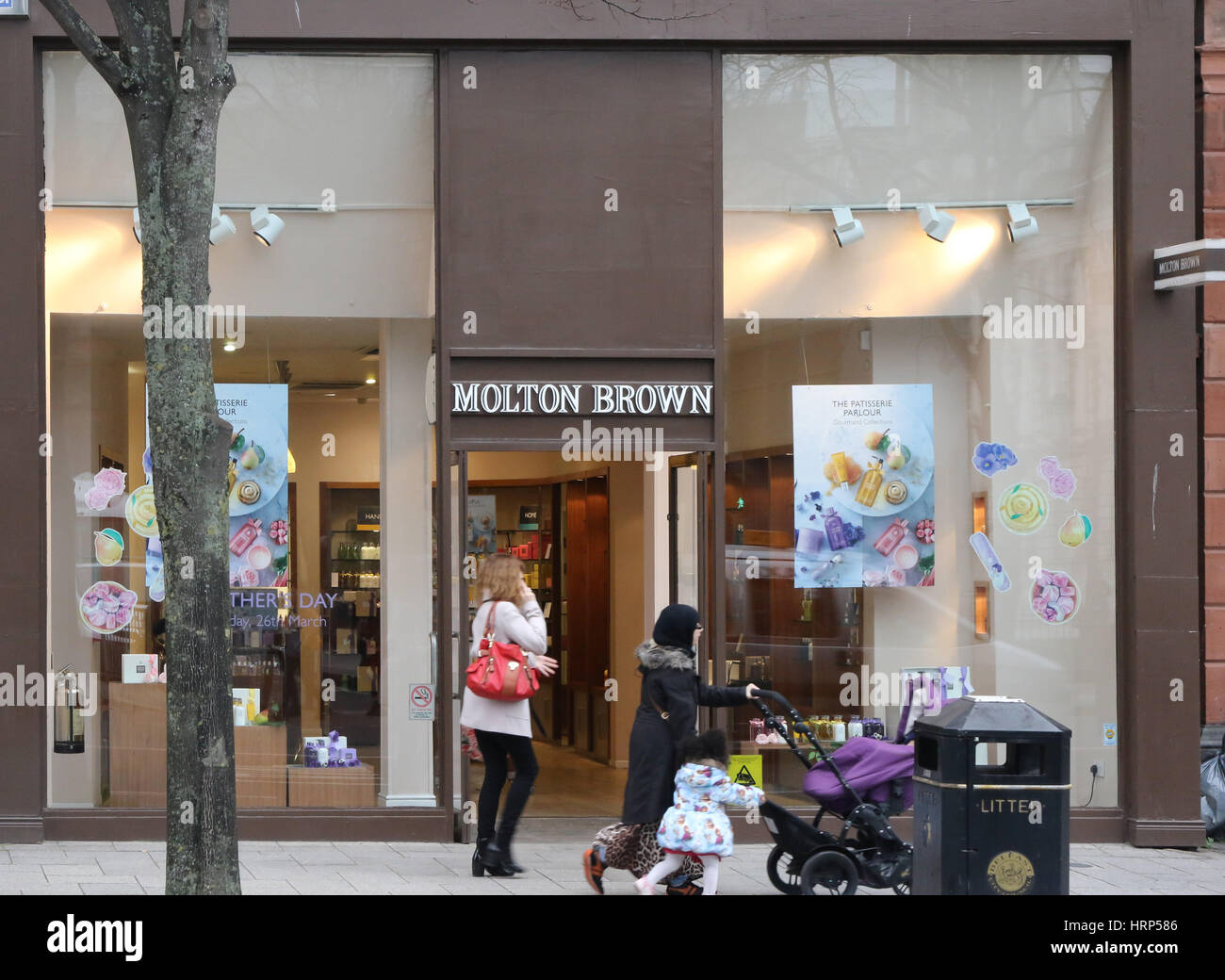 A Molton Brown shop in Donegall Square North, Belfast, Northern Ireland. - Stock Image