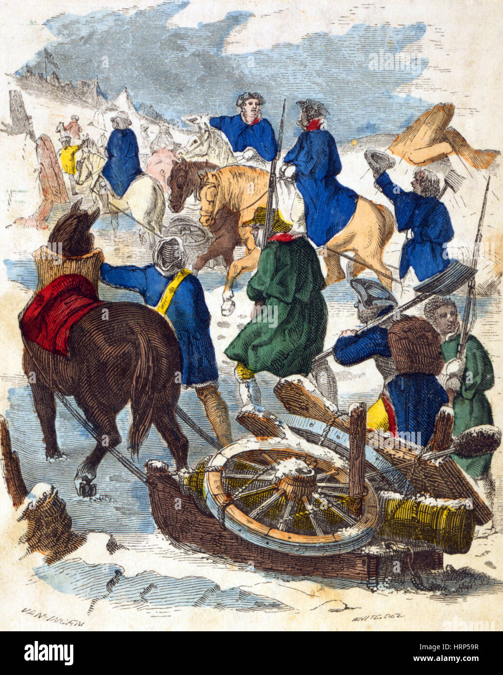 Knox Expedition, Noble Train of Artillery, 1775 - Stock Image