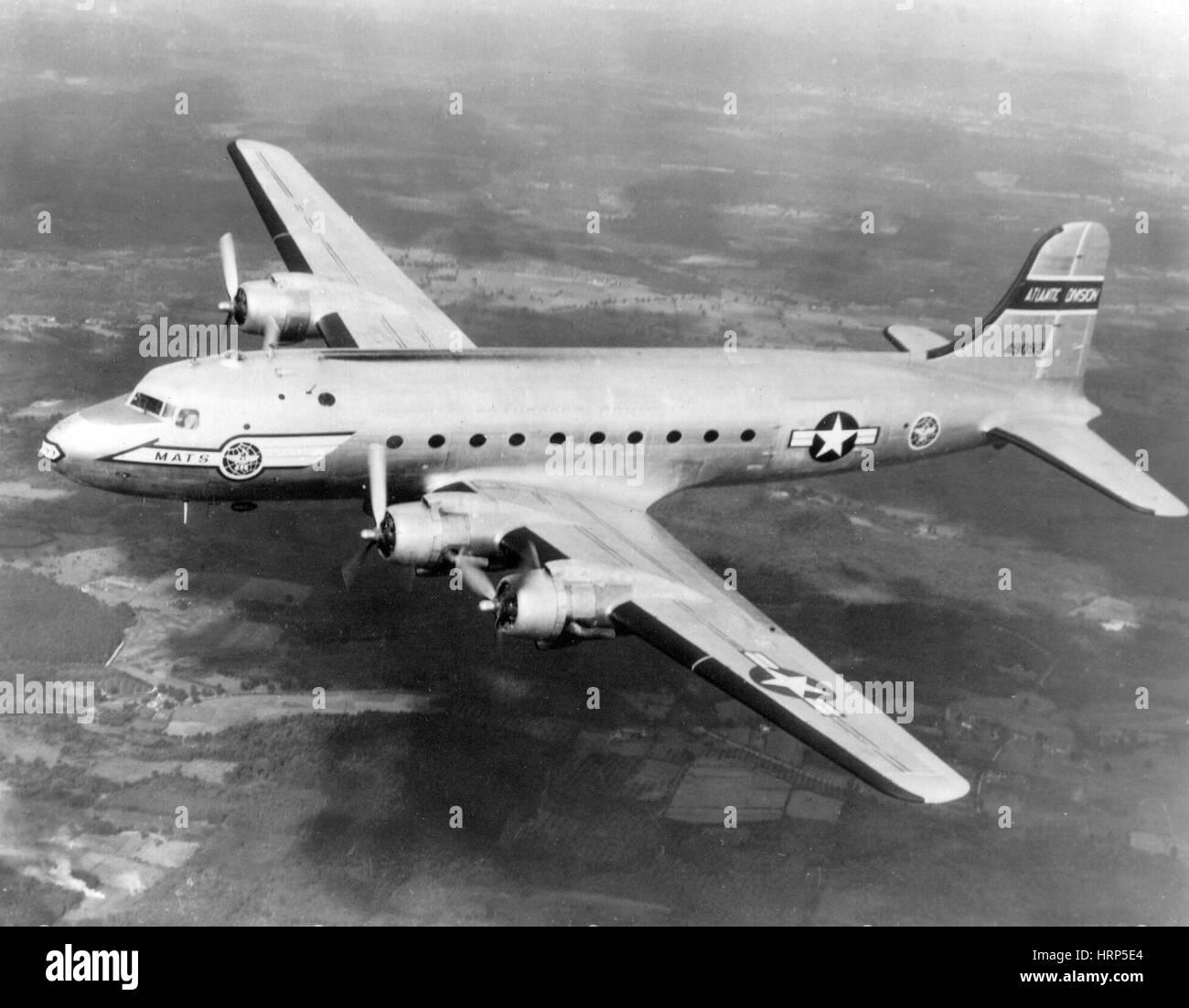 Douglas C-54 Skymaster, 1940s - Stock Image