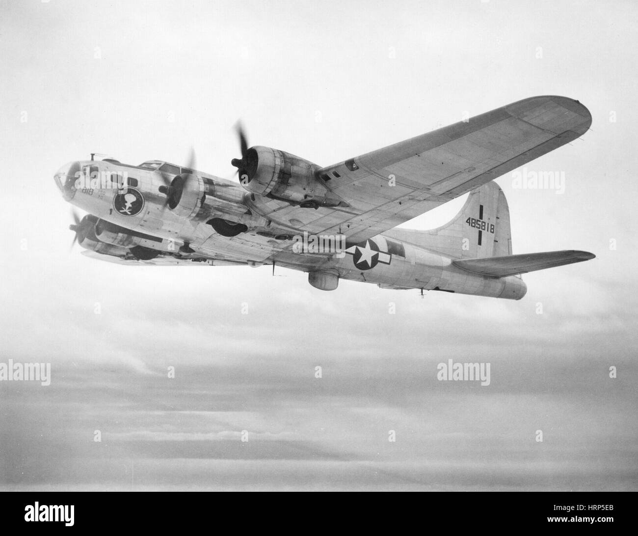 WWII, Boeing B-17 Flying Fortress, 1940s Stock Photo