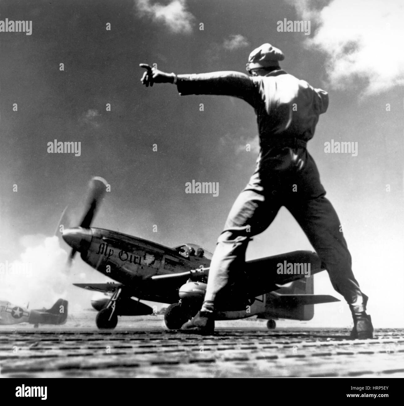 WWII, North American P-51 Mustang, 1940s - Stock Image