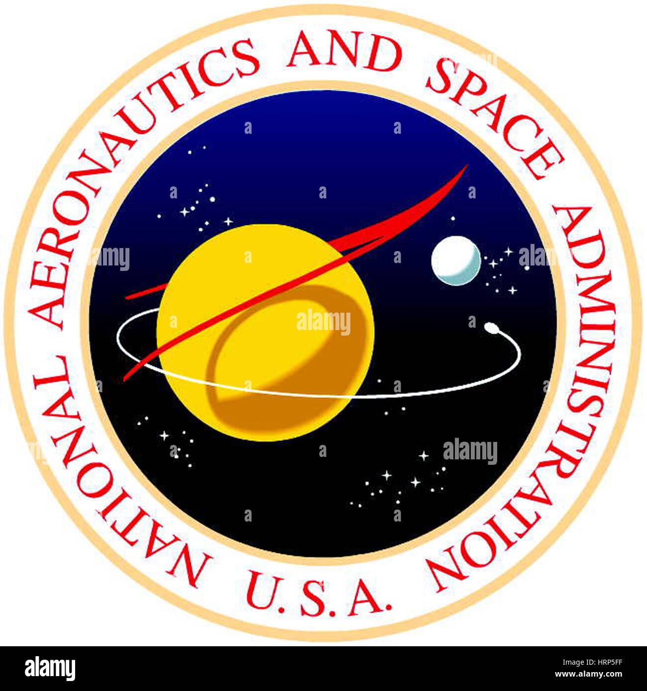 Original NASA Logo, 1958 - Stock Image