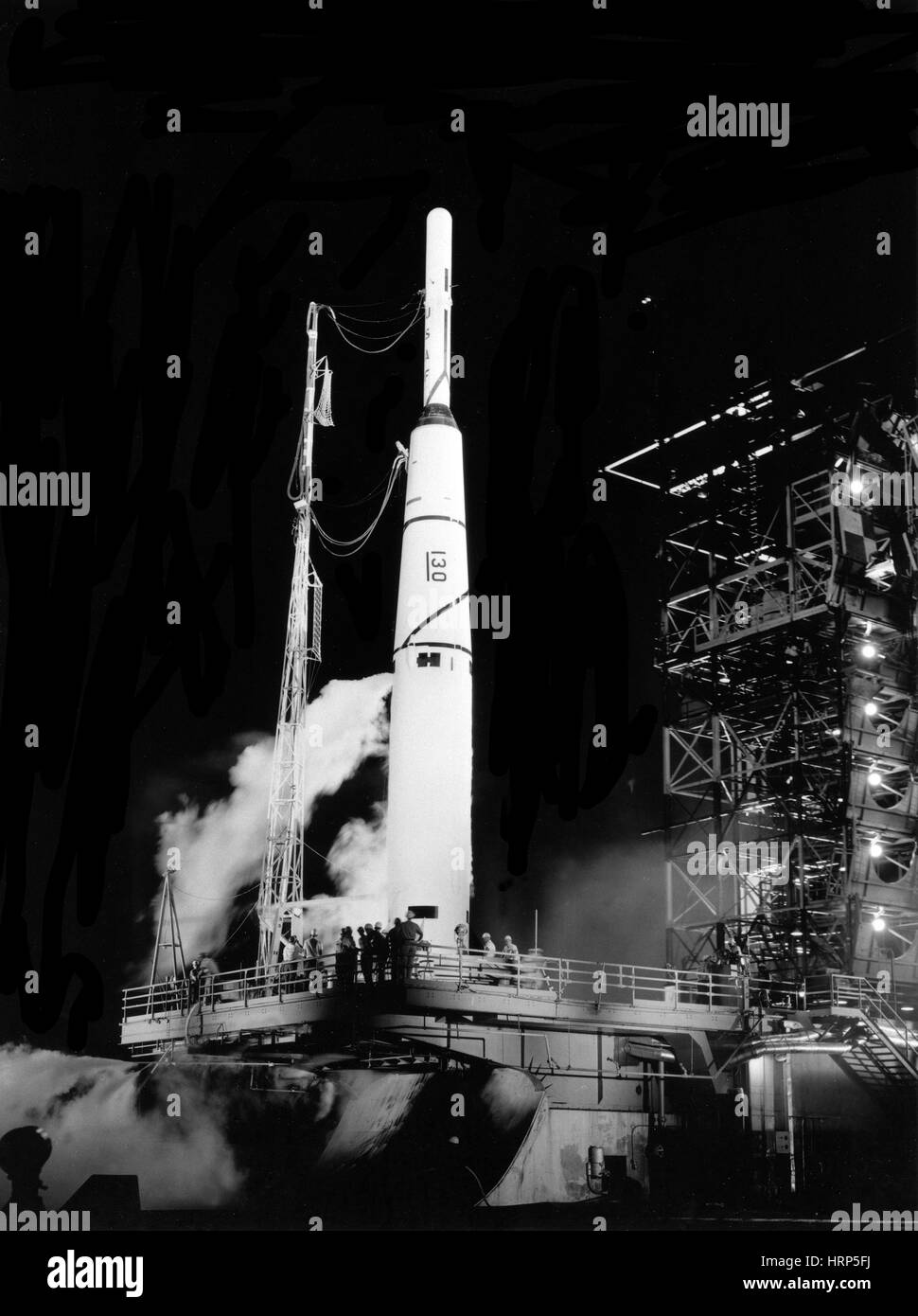 Pioneer 1 Preparing for Launch, 1958 - Stock Image