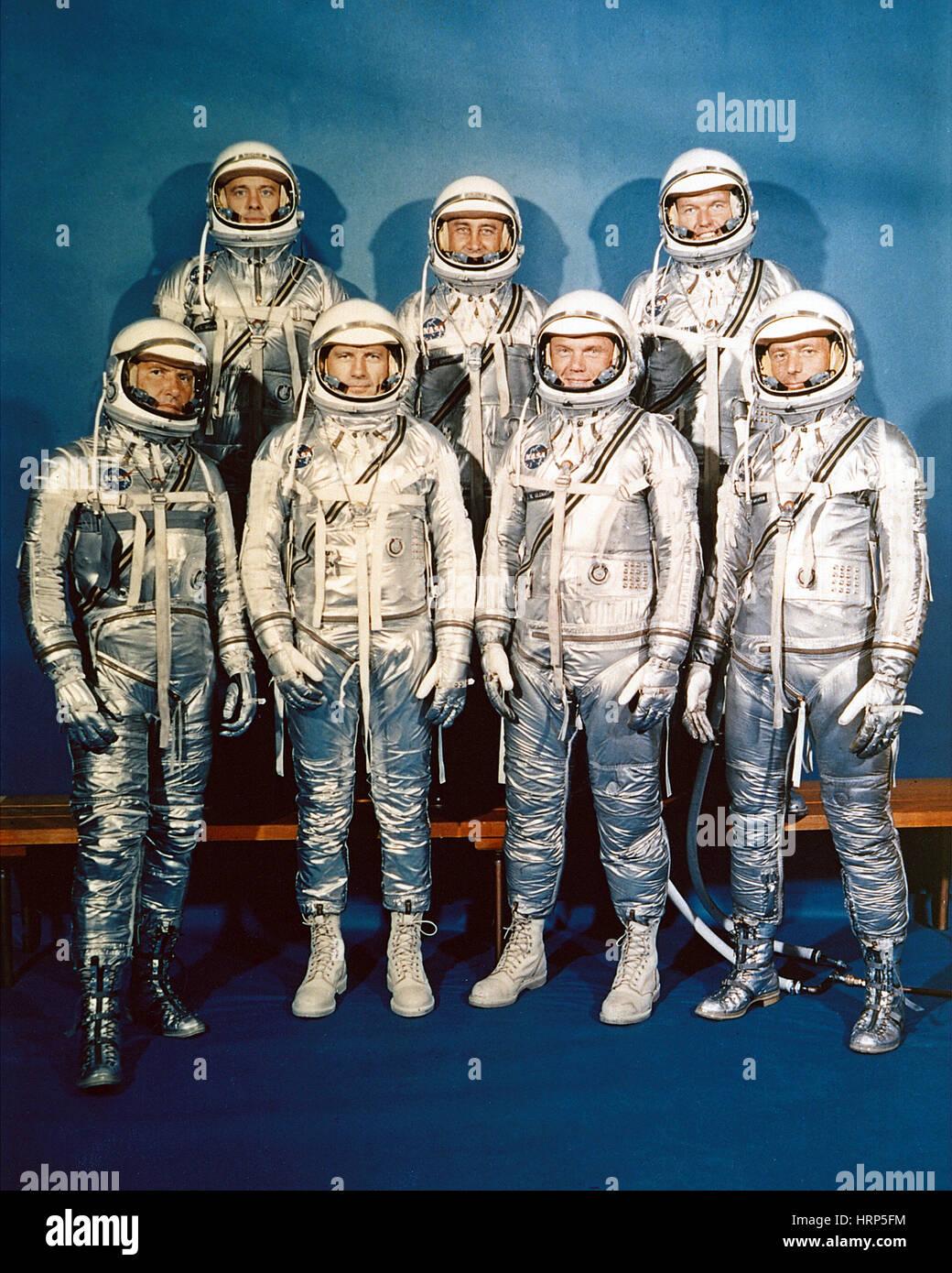 Mercury Seven, 1959 - Stock Image