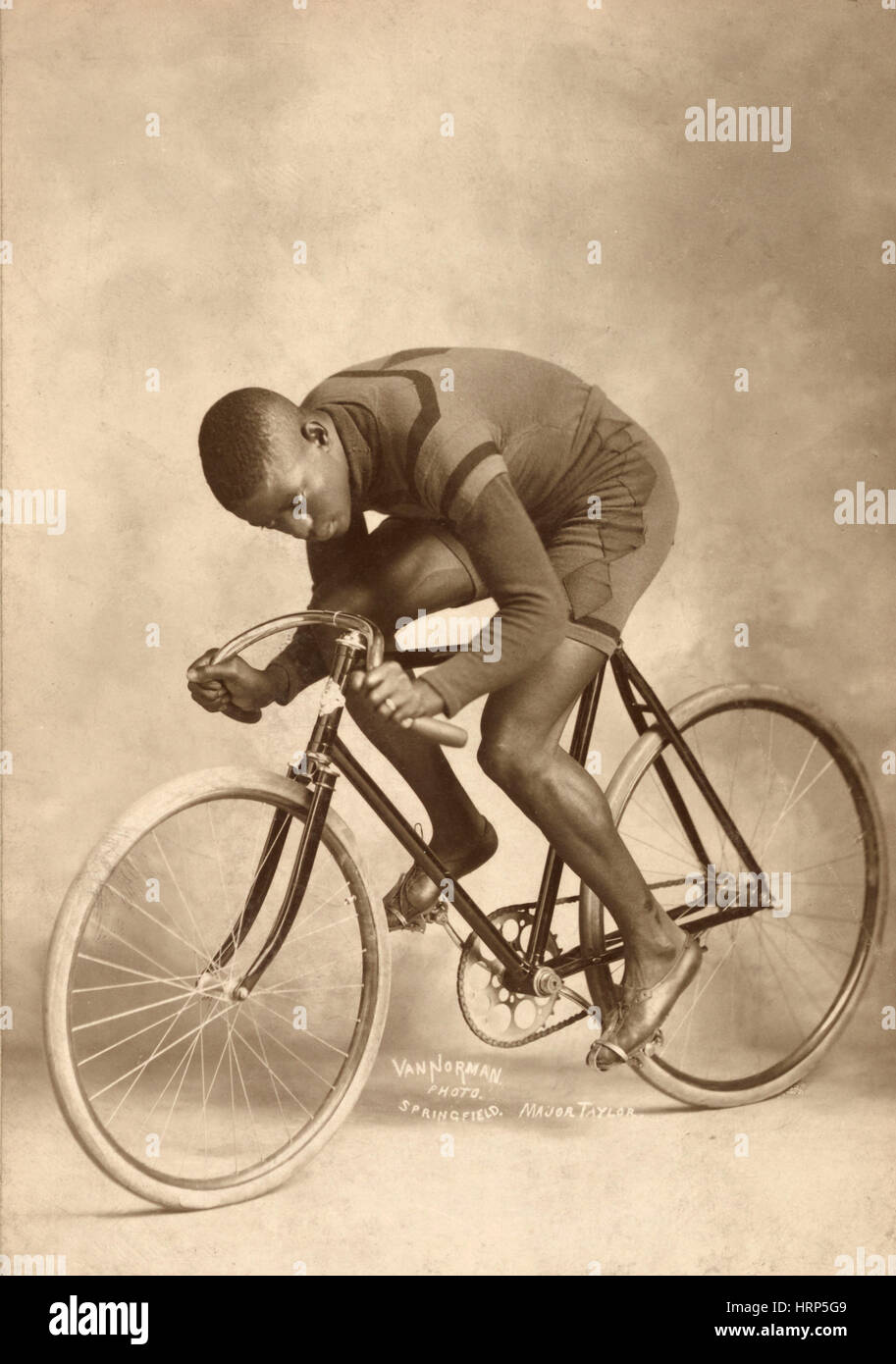 Marshall Taylor, World Champion Cyclist - Stock Image