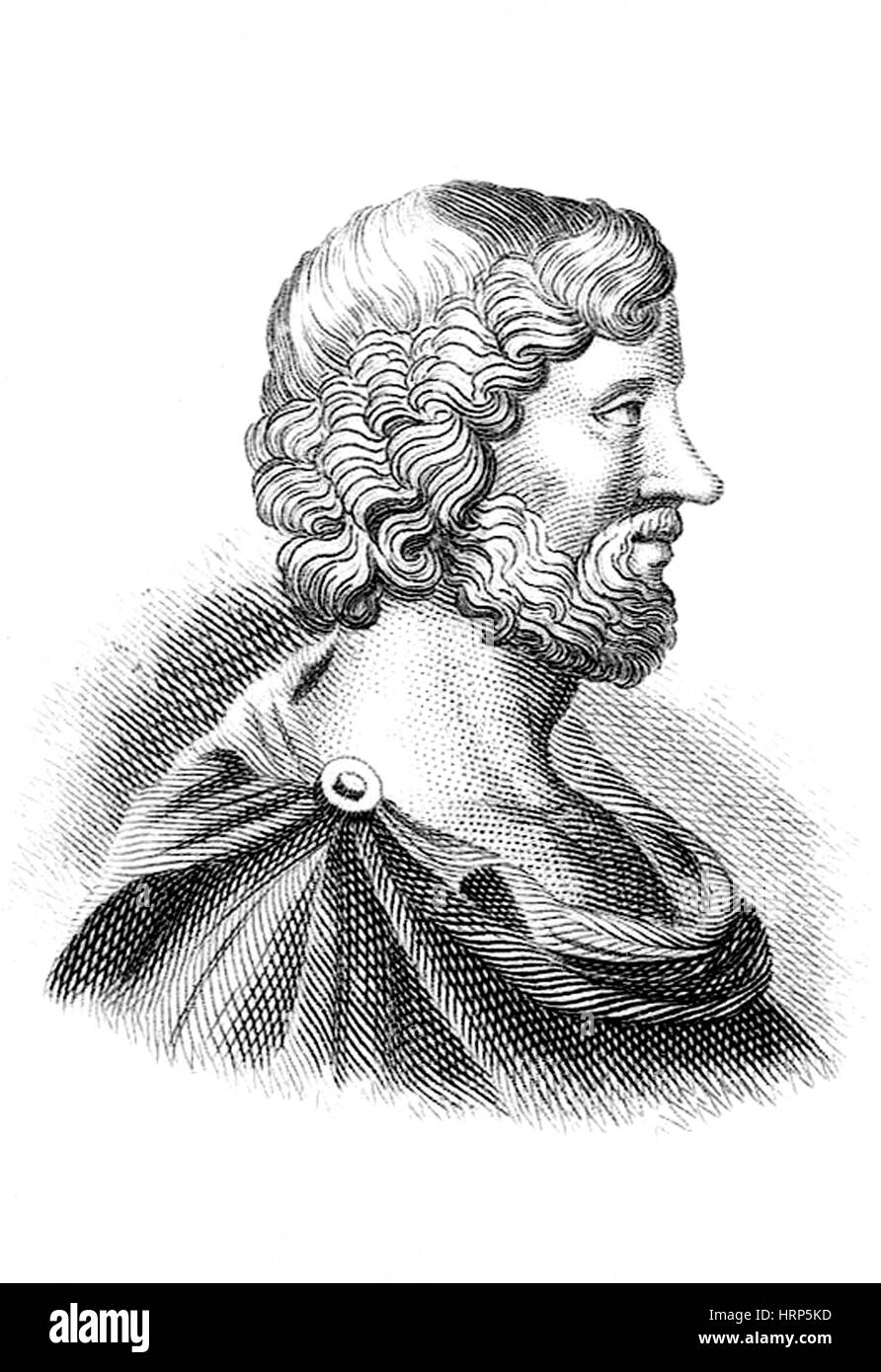 Aristippus of Cyrene, Ancient Greek Philosopher - Stock Image