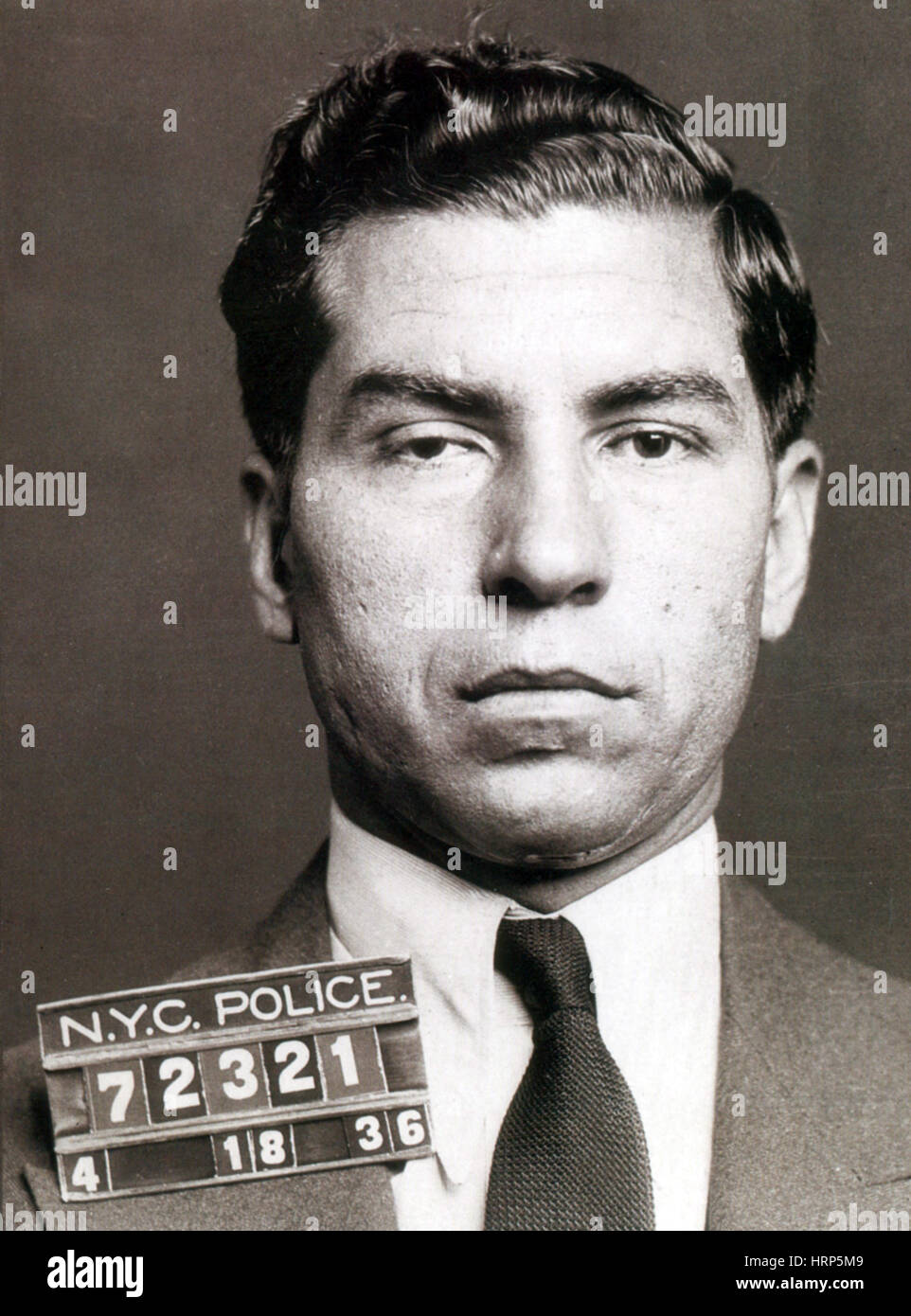 Lucky Luciano, American Mobster - Stock Image