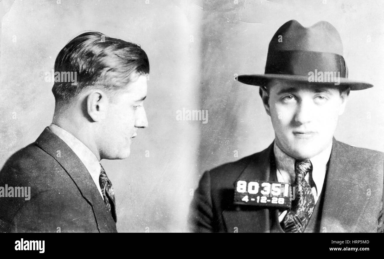 "Benjamin ""Bugsy"" Siegel, American Mobster Stock Photo"
