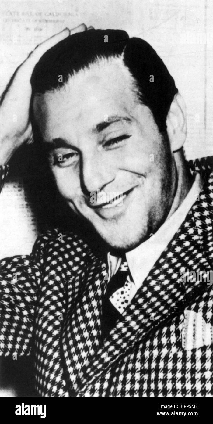 Benjamin 'Bugsy' Siegel, American Mobster - Stock Image
