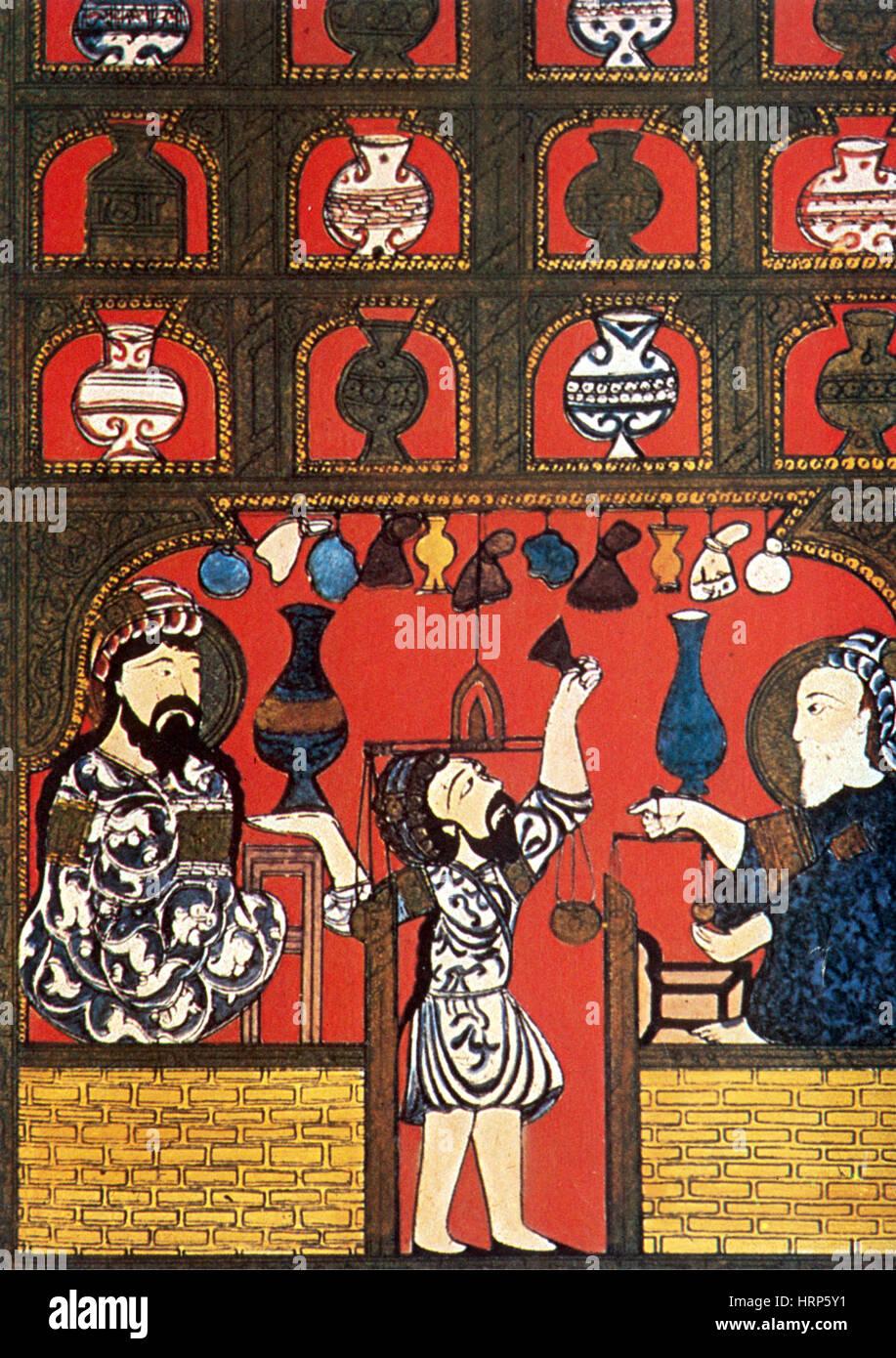 Arab Pharmacy, 13th Century - Stock Image