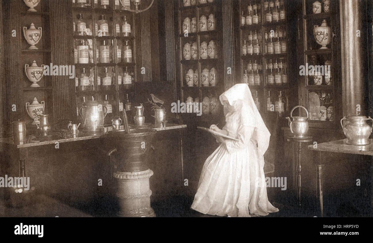 Apothecary of Hospices de Beaune Stock Photo