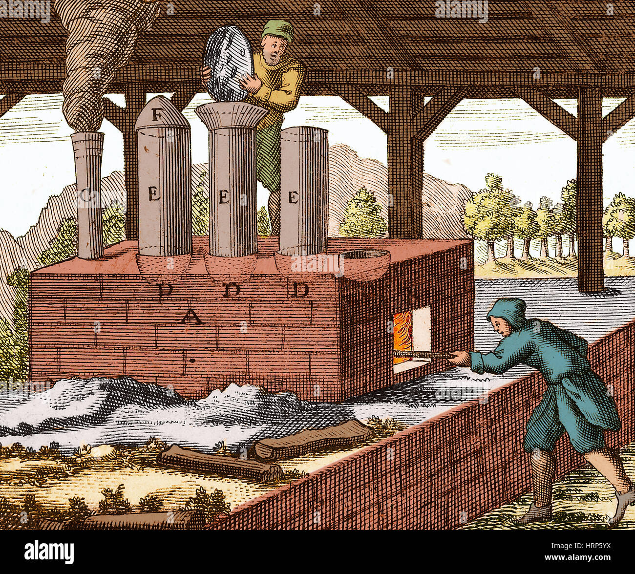Manufacture of Arsenic, 1704 - Stock Image
