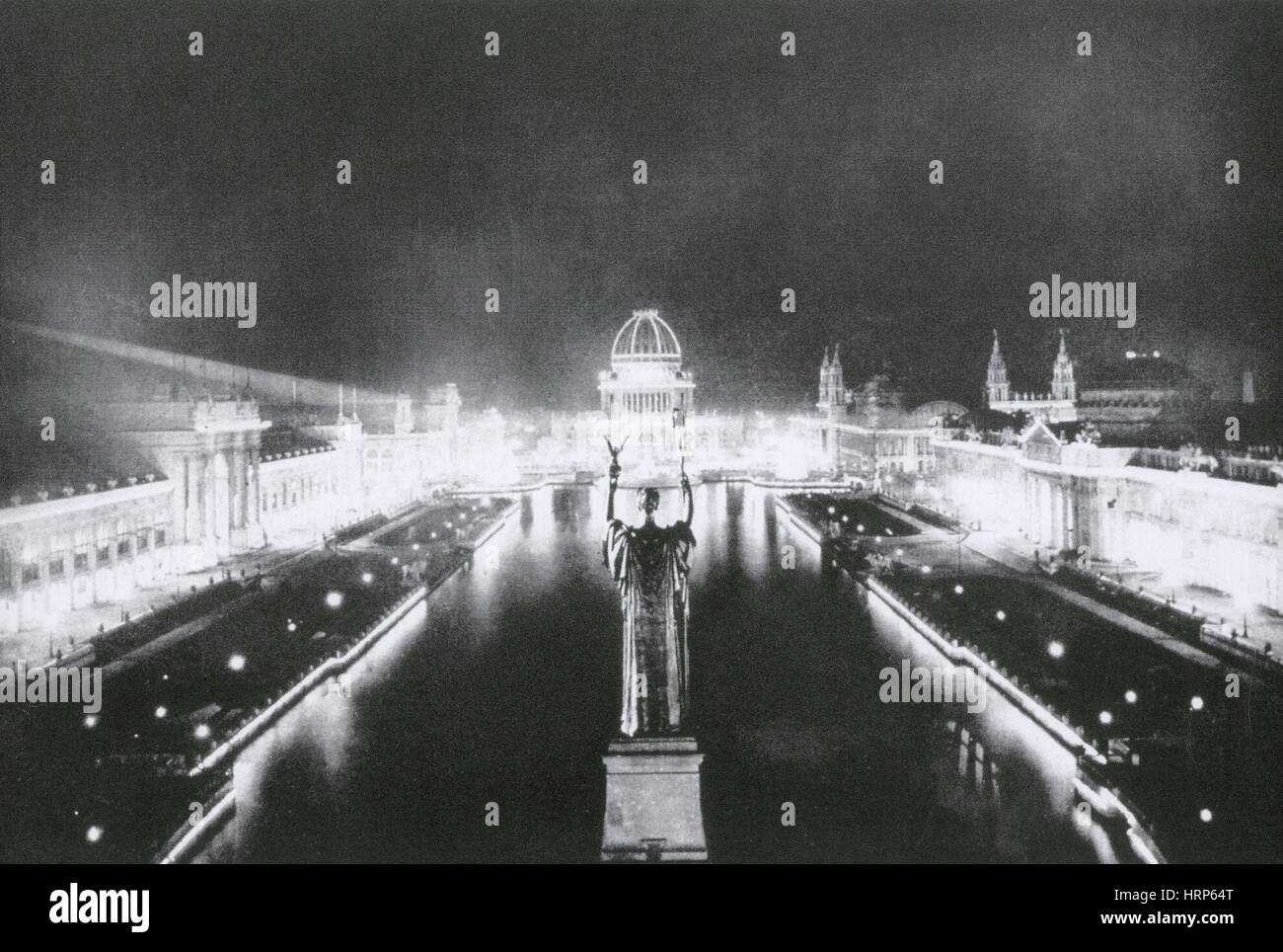 Columbian Exposition, Court of Honor, 1893 - Stock Image