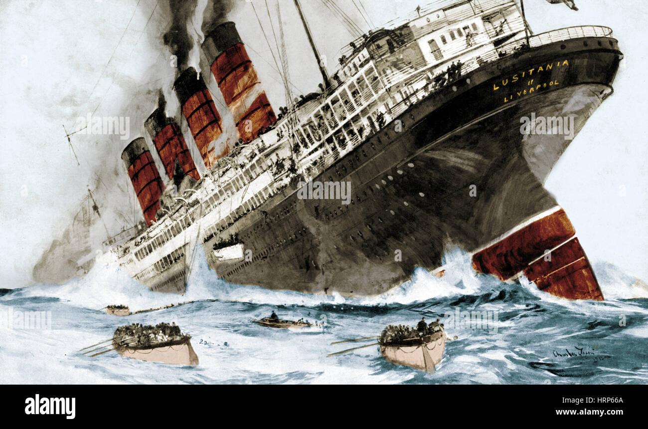 Ww1 Ship Sinking Sinking The Lusitania An Act Of Mass