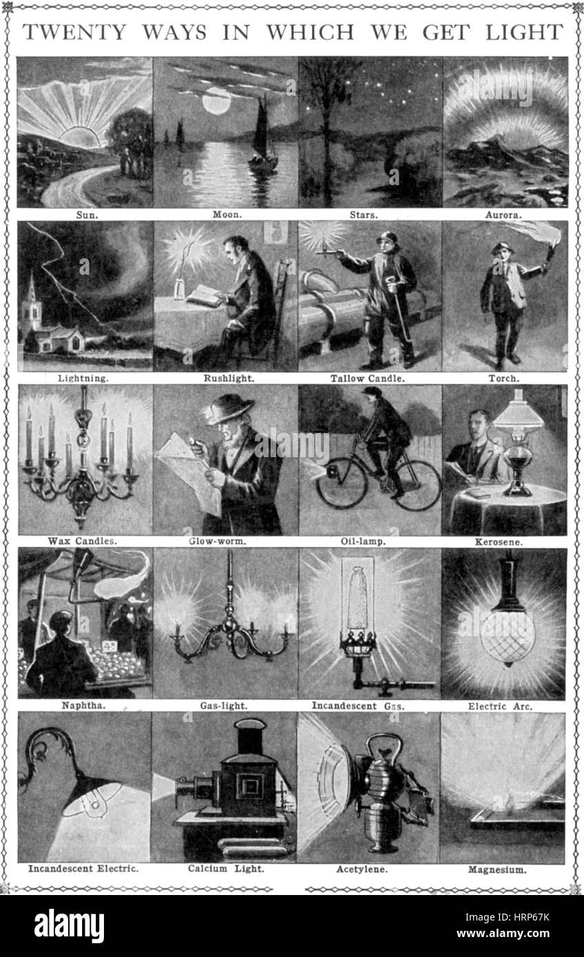 20 Ways We Get Light - Stock Image