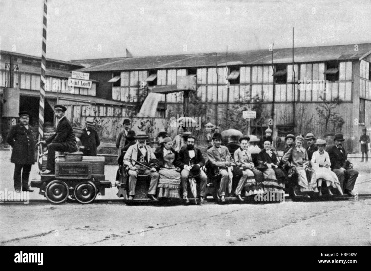 First Electric Railway, 1879 - Stock Image