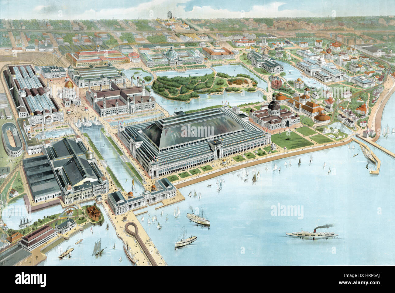 Columbian Exposition, 1893 - Stock Image