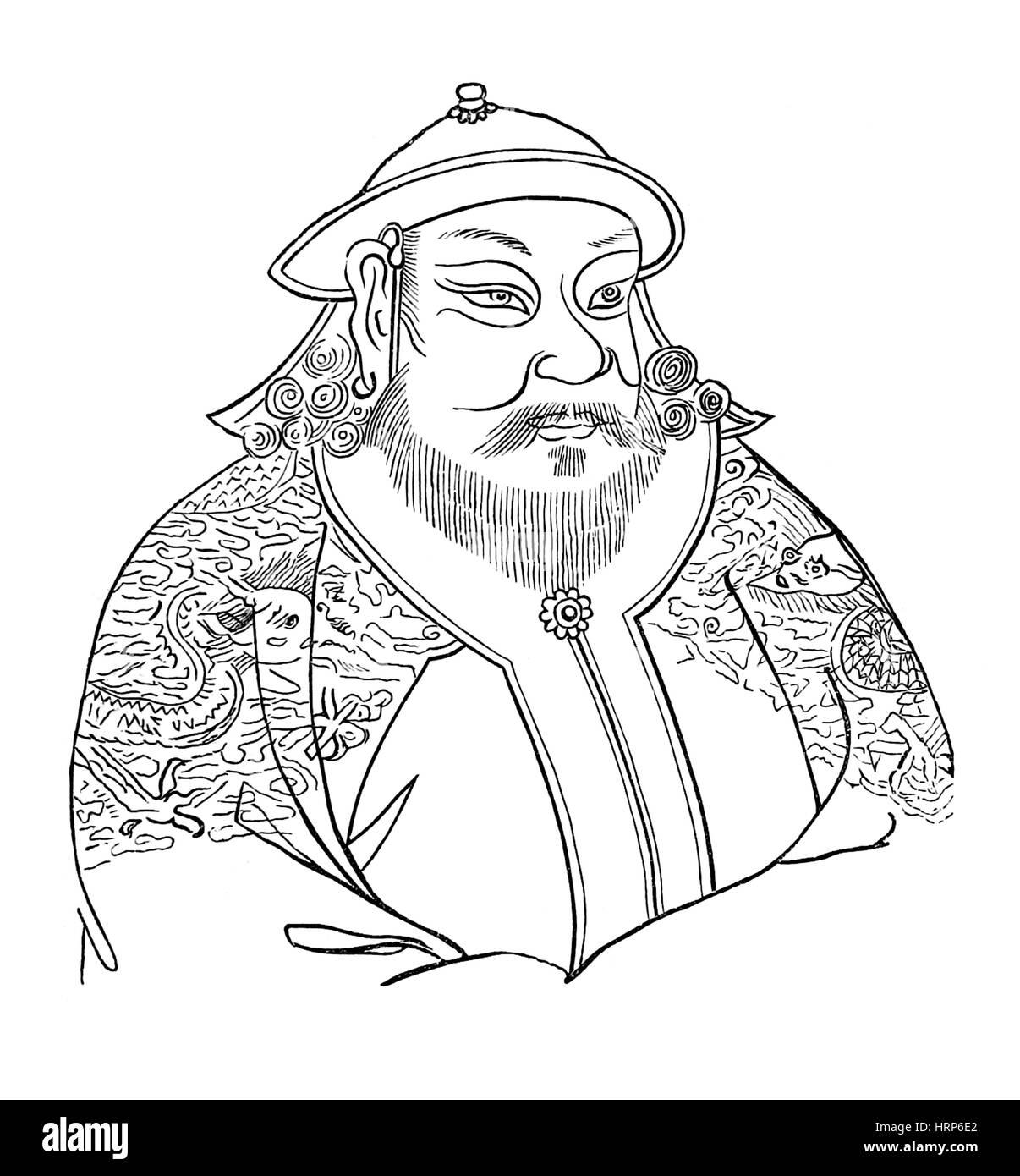 Kublai Khan, Emperor of China, Yuan Dynasty - Stock Image