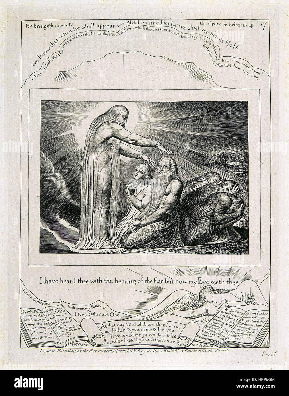 William Blake's 'The Vision of Christ' - Stock Image