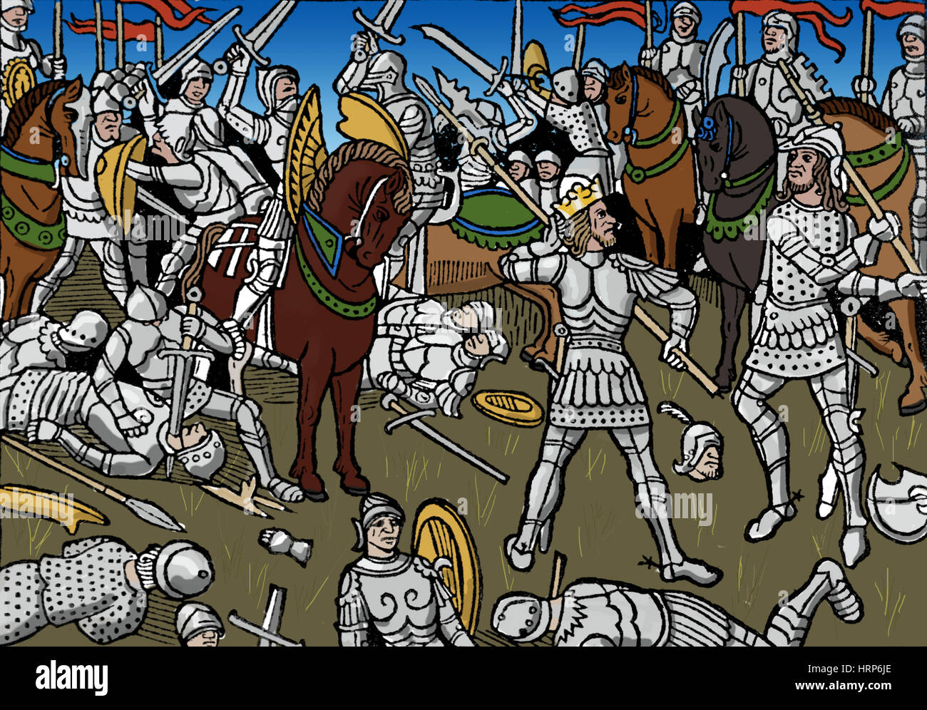 Knights, 1489 - Stock Image