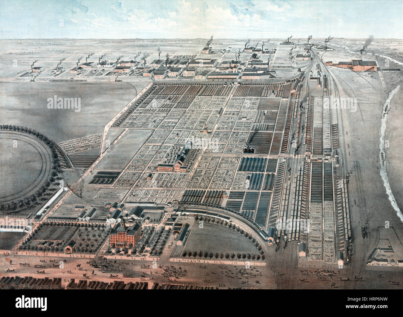 Chicago, Union Stock Yard, 1878 - Stock Image