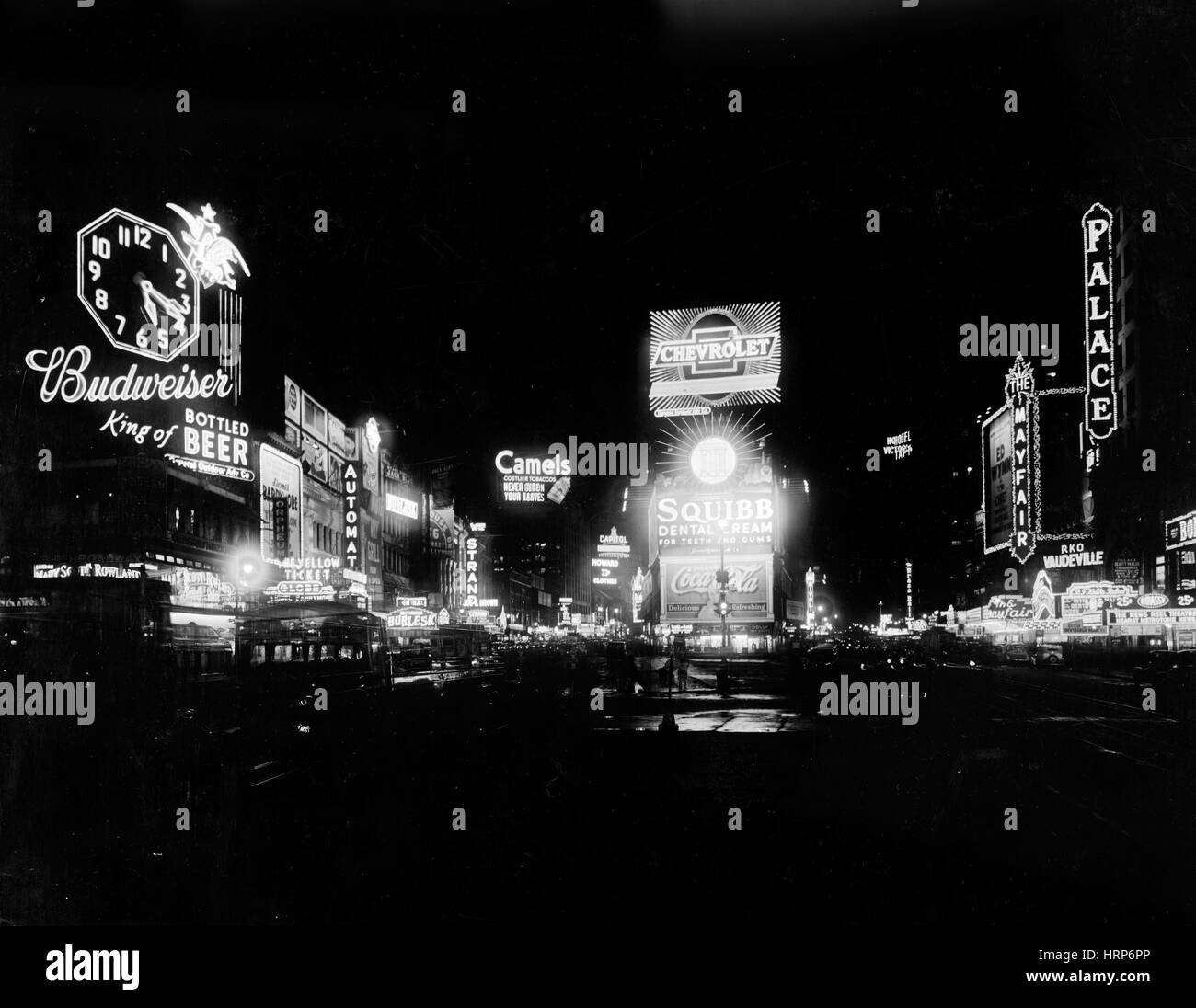 NYC, Times Square, 1934 - Stock Image