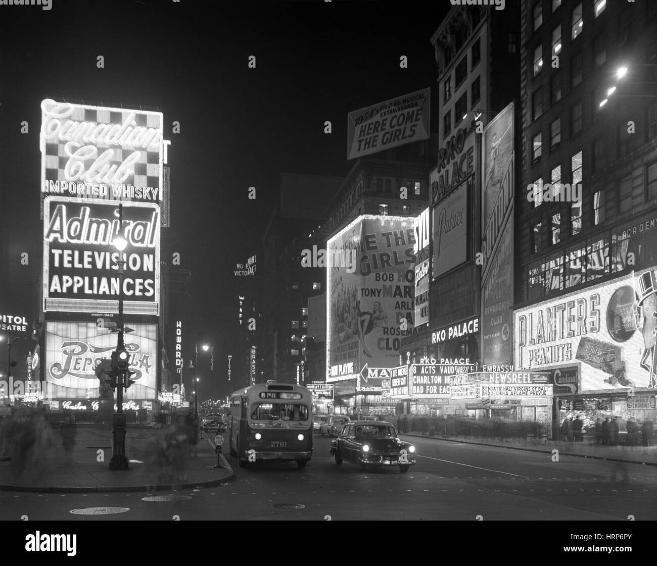 NYC, Times Square, 1953 - Stock Image