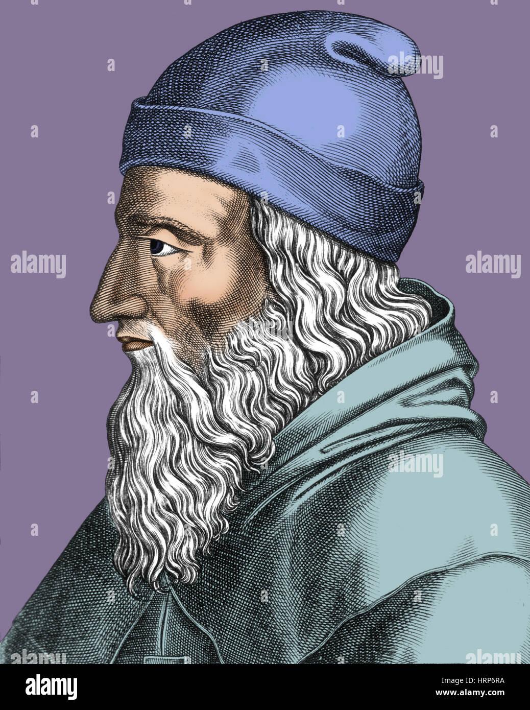 Aristotle, Ancient Greek Philosopher - Stock Image