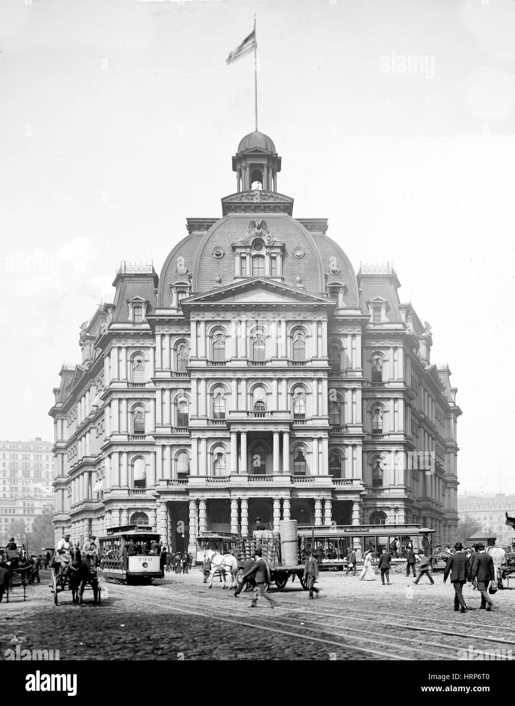 NYC, City Hall Post Office and Courthouse, 1900s - Stock Image