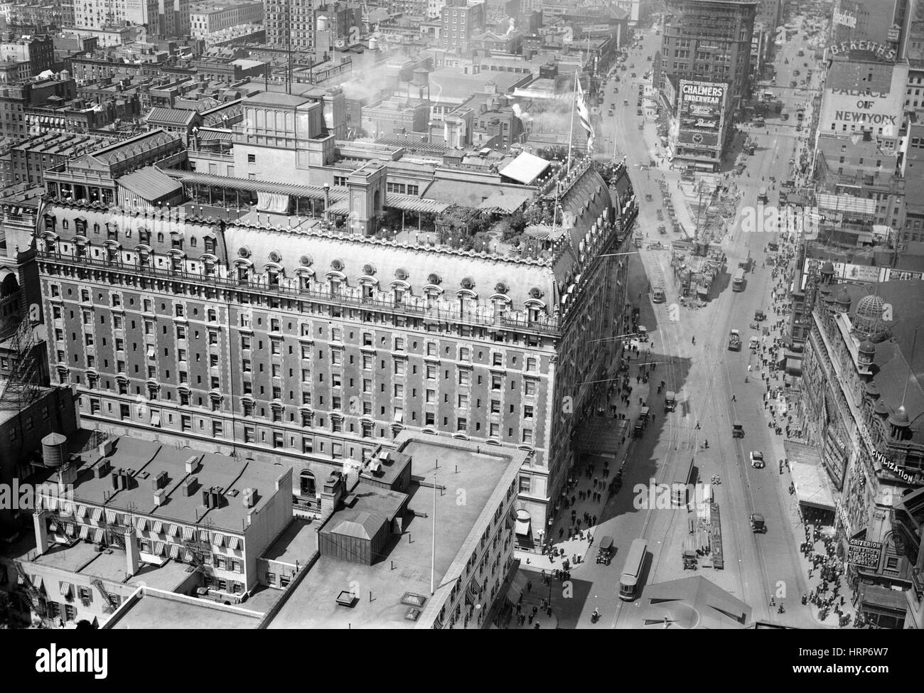 NYC, Times Square, Hotel Astor, 1915-20 - Stock Image