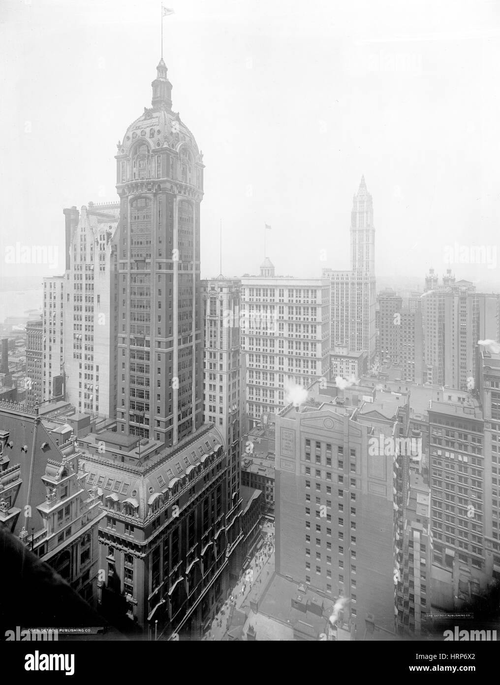 NYC, Singer Building, 1910s - Stock Image