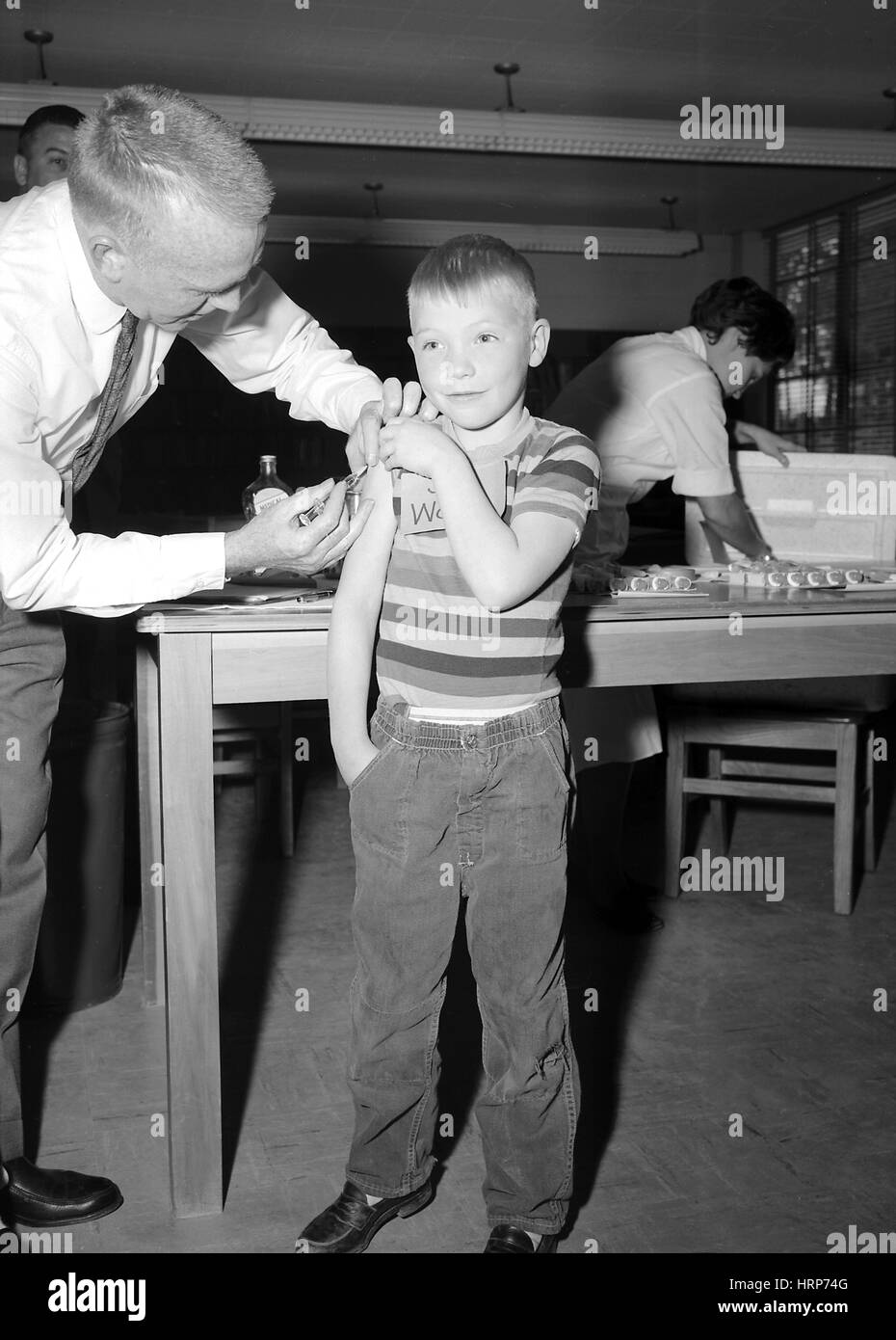 Measles Vaccination, 1962 - Stock Image