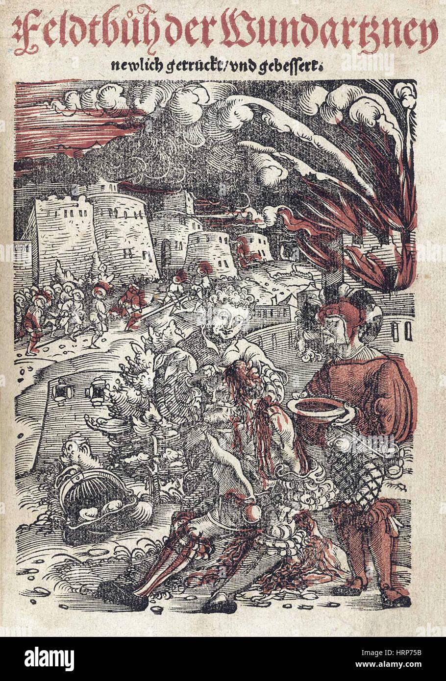 Title Page, 'Feldbuch der Wundartzney', 1528 - Stock Image